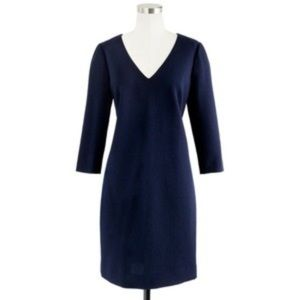 J Crew Navy Shift Dress 3/4 Sleeve Size 2